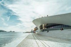Nowi muzeum sztuki, architektura, Technologia Museu De Arte, Arquitetura e Tecnologia i MAAT, zdjęcia royalty free