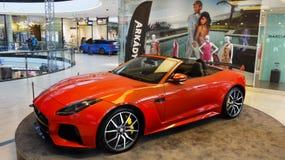 Nowi Odgórni sportów samochody, Jaguar Obrazy Stock