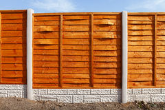 Nowi ogrodzenie panel Zdjęcia Stock