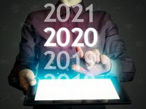 Nowi 2020 rok w zaawansowany technicznie zdjęcie royalty free