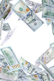 Nowi Sto dolarów kropel Obraz Stock