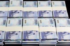 Nowi Tajwańscy dolary w stertach Obraz Stock