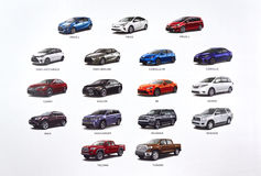 Nowi Toyota samochody Zdjęcie Stock