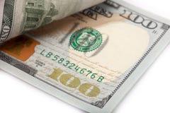 Nowi 100 Usa dolarowy rachunek Zdjęcia Royalty Free