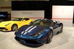 Nowi włoscy sportów samochody Zdjęcia Royalty Free