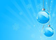 Nowi Year's baubles Zdjęcia Royalty Free