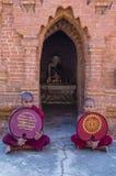 Nowicjuszów michaelita w bagan Myanmar Obrazy Stock