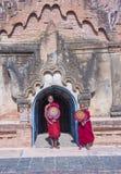 Nowicjuszów michaelita w bagan Myanmar Obraz Royalty Free