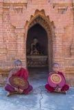Nowicjuszów michaelita w bagan Myanmar Obraz Stock
