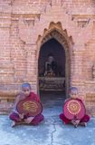 Nowicjuszów michaelita w bagan Myanmar Fotografia Stock