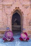 Nowicjuszów michaelita w bagan Myanmar Zdjęcia Royalty Free