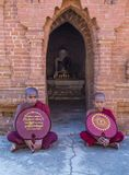 Nowicjuszów michaelita w bagan Myanmar Zdjęcia Stock