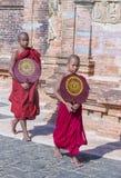 Nowicjuszów michaelita w bagan Myanmar Obrazy Royalty Free
