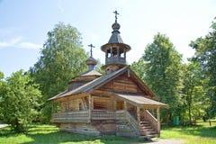 nowicjusz Muzeum Drewniana architektura Vitoslavlitsy zdjęcie stock
