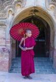 Nowicjusza michaelita w bagan Myanmar Fotografia Royalty Free