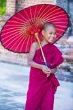Nowicjusza michaelita w bagan Myanmar Obraz Royalty Free