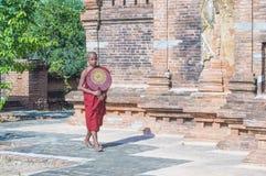Nowicjusza michaelita w bagan Myanmar Obrazy Stock