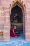 Nowicjusza michaelita w bagan Myanmar Obrazy Royalty Free