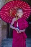 Nowicjusza michaelita w bagan Myanmar Zdjęcie Stock