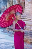 Nowicjusza michaelita w bagan Myanmar Zdjęcia Stock