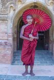 Nowicjusza michaelita w bagan Myanmar Zdjęcie Royalty Free