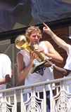Nowitzki in NBA  Mavericks champions parade Royalty Free Stock Image