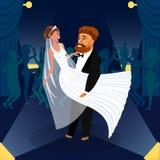 Nowożeńcy pary tana wektoru Pierwszy ilustracja royalty ilustracja