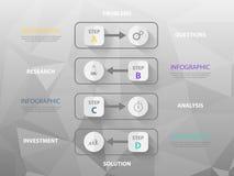 Nowożytny biznesowy infographic szablon, kolorowe ikony, royalty ilustracja