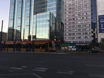 Nowożytny centrum w Warszawskim Polska obraz stock