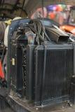 Nowożytny nowy rolniczy dieslowski ciągnikowy silnik Nowożytny nowy technika silnik ładowacz lub mały ciągnik Odgórny widok Duży  zdjęcia royalty free
