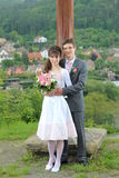 Nowożeńcy Obrazy Royalty Free