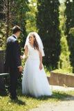 Nowożeńcy para wpólnie. Obrazy Stock