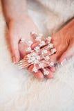 Nowożeńcy ręka Zdjęcia Stock