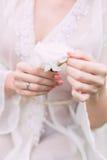 Nowożeńcy ręka Obraz Stock