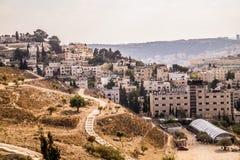 Nowożytna ćwiartka w Jerozolima fotografia royalty free