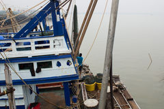 Nowożytna łódź rybacka zdjęcie stock