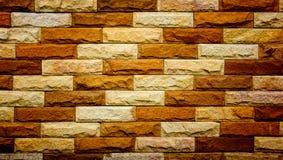 Nowożytna ściana z cegieł tła tekstura Obrazy Royalty Free