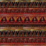 Nowożytna abstrakcjonistyczna czerwień i czarna geometryczna wektorowa bezszwowa deseniowa tło tapeta z rocznika 3d grka złocisty royalty ilustracja