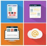 Nowożytna app ikona wyszukiwarka biznesu pojęcie royalty ilustracja