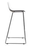 Nowożytna Biała Plastikowa Prętowa stolec Projektanta baru krzesło odizolowywający na bielu Fotografia Stock