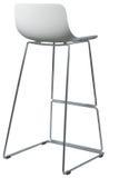 Nowożytna Biała Plastikowa Prętowa stolec Projektanta baru krzesło odizolowywający na bielu Obraz Royalty Free