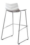 Nowożytna Biała Plastikowa Prętowa stolec Projektanta baru krzesło odizolowywający na bielu Zdjęcia Stock