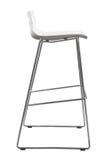 Nowożytna Biała Plastikowa Prętowa stolec Projektanta baru krzesło odizolowywający na bielu Obrazy Stock