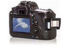 Nowożytna Cyfrowa kamera od plecy, Odizolowywającego Na Wh Zdjęcie Royalty Free