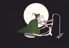 Nowożytna czarownica na aspiratorze Obrazy Stock