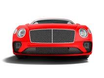 Nowożytna czerwona samochodowa sedan klasa business dla podróży na frontowej pracie 3d ilustracja wektor