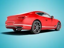 Nowożytna czerwona samochodowa sedan klasa business dla wycieczki pracować za 3d r ilustracja wektor