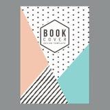 Nowożytna czysta książkowa pokrywa, Plakata Ulotka Broszurka, Firma profil, sprawozdanie roczne projekta układu szablon w A4 rozm Obraz Royalty Free