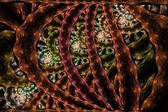 Nowożytna elegancka abstrakcjonistyczna fractal tekstura jest kierowany komputerowo wizerunkiem royalty ilustracja