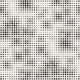 Nowożytna Elegancka Halftone tekstura Niekończący się Abstrakcjonistyczny tło Z Przypadkowymi okręgami Wektorowy Bezszwowy mozaik Fotografia Stock